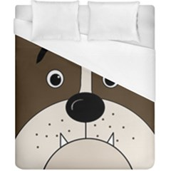 Bulldog face Duvet Cover (California King Size)