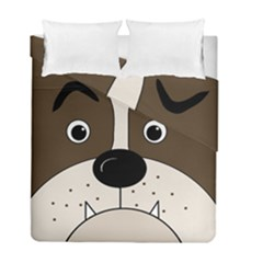 Bulldog face Duvet Cover Double Side (Full/ Double Size)