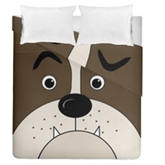 Bulldog face Duvet Cover Double Side (Queen Size)