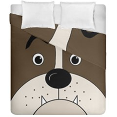 Bulldog face Duvet Cover Double Side (California King Size)