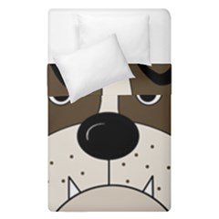 Bulldog face Duvet Cover Double Side (Single Size)