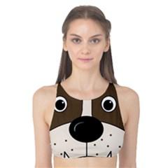 Bulldog face Tank Bikini Top