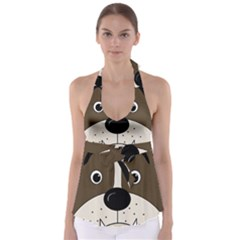 Bulldog face Babydoll Tankini Top