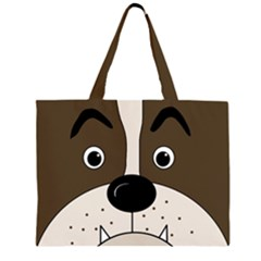 Bulldog face Large Tote Bag