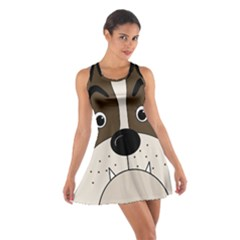 Bulldog face Cotton Racerback Dress