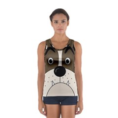 Bulldog face Women s Sport Tank Top