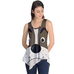 Bulldog face Sleeveless Tunic
