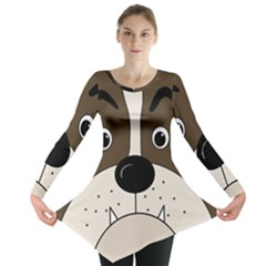 Bulldog face Long Sleeve Tunic