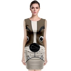 Bulldog face Classic Sleeveless Midi Dress