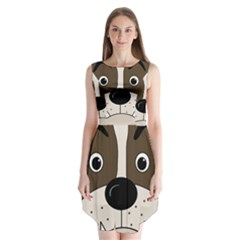 Bulldog face Sleeveless Chiffon Dress