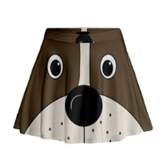 Bulldog face Mini Flare Skirt