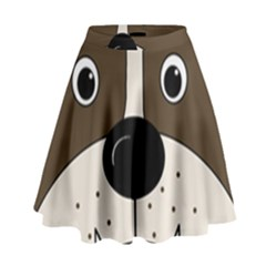 Bulldog face High Waist Skirt