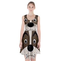 Bulldog face Racerback Midi Dress