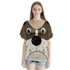 Bulldog face Flutter Sleeve Top