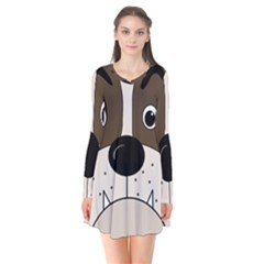 Bulldog face Flare Dress