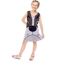 Bulldog face Kids  Tunic Dress