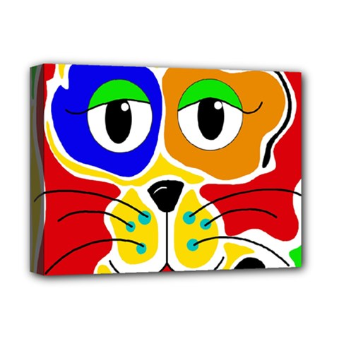 Colorful cat Deluxe Canvas 16  x 12