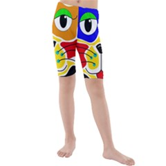 Colorful cat Kids  Mid Length Swim Shorts