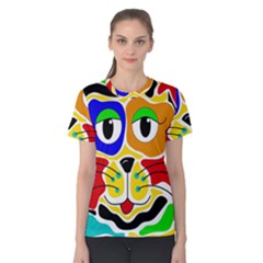 Colorful cat Women s Cotton Tee