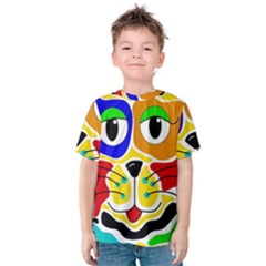 Colorful cat Kids  Cotton Tee