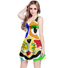 Colorful cat Reversible Sleeveless Dress