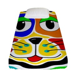 Colorful cat Fitted Sheet (Single Size)