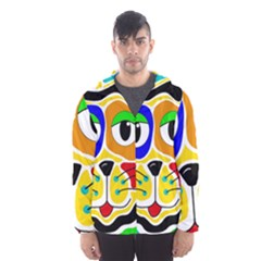 Colorful cat Hooded Wind Breaker (Men)
