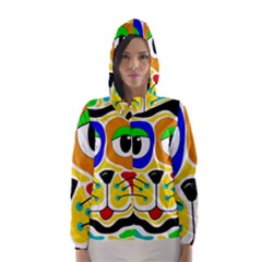 Colorful cat Hooded Wind Breaker (Women)