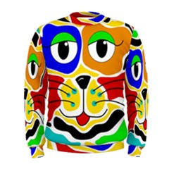 Colorful cat Men s Sweatshirt