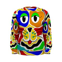 Colorful cat Women s Sweatshirt