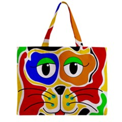 Colorful cat Zipper Mini Tote Bag