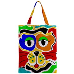 Colorful cat Zipper Classic Tote Bag