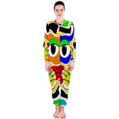 Colorful cat OnePiece Jumpsuit (Ladies)