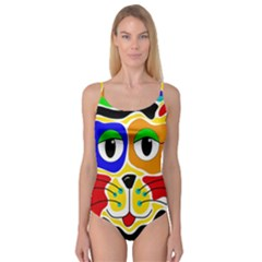 Colorful cat Camisole Leotard