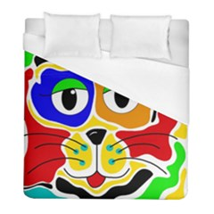 Colorful cat Duvet Cover (Full/ Double Size)