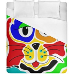 Colorful cat Duvet Cover (California King Size)