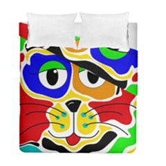Colorful cat Duvet Cover Double Side (Full/ Double Size)