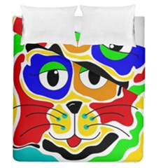 Colorful cat Duvet Cover Double Side (Queen Size)