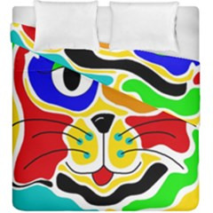 Colorful cat Duvet Cover Double Side (King Size)
