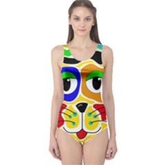 Colorful cat One Piece Swimsuit