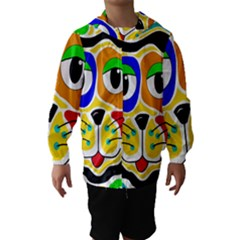 Colorful cat Hooded Wind Breaker (Kids)