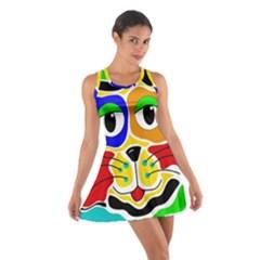 Colorful cat Cotton Racerback Dress