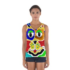 Colorful cat Women s Sport Tank Top