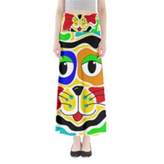 Colorful cat Maxi Skirts