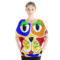 Colorful cat Blouse