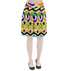 Colorful cat Pleated Skirt