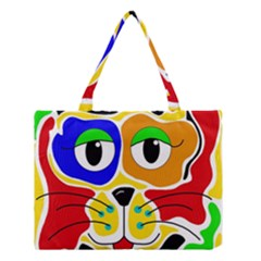 Colorful cat Medium Tote Bag
