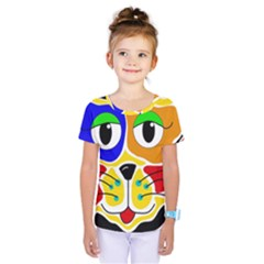 Colorful cat Kids  One Piece Tee