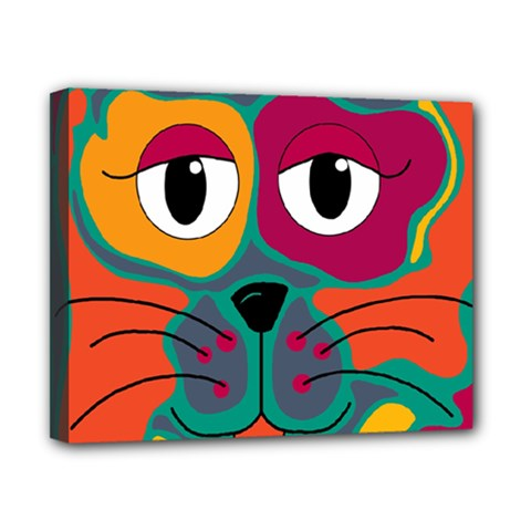 Colorful cat 2  Canvas 10  x 8