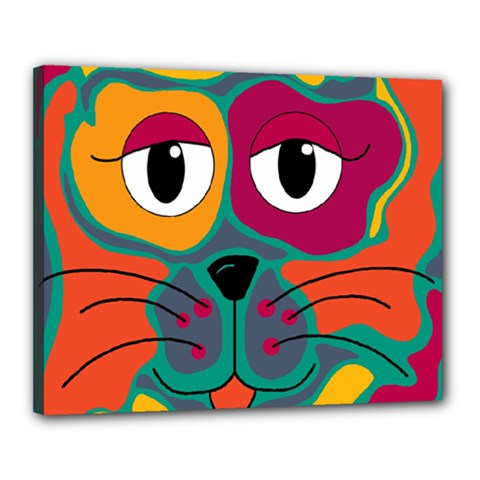 Colorful cat 2  Canvas 20  x 16